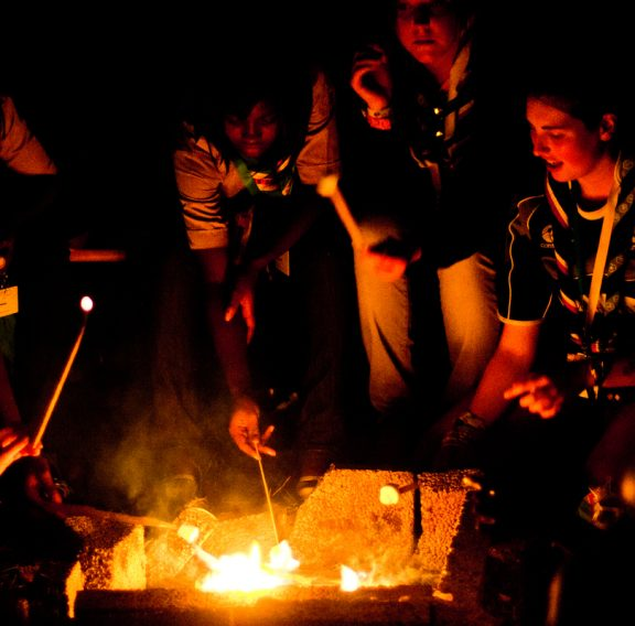 Gaterhing at the campfire