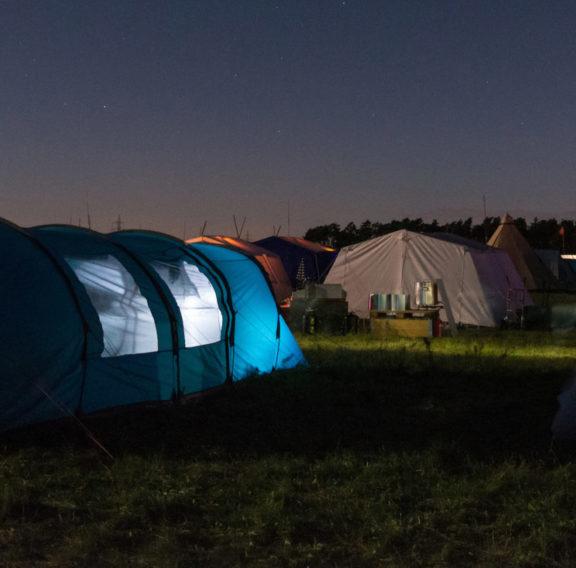 Tält i natten