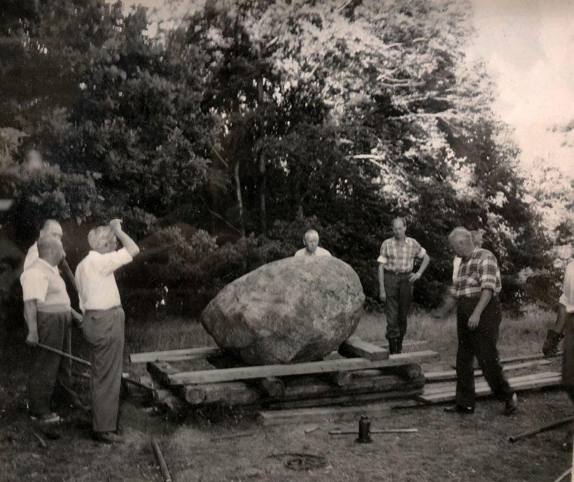 1959-06-24 Arbete med Scoutmonumentet Göteborg