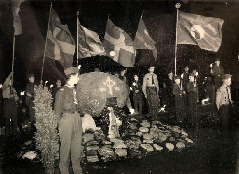 1959-11-14 Invigning av Scoutmonumentet Göteborg